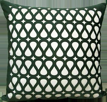 Capa Almofada Corte a Laser Provence Flux Verde 50x50