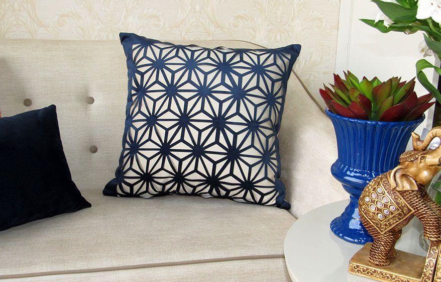 Capa Almofada Provence Spin Azul 50x50cm
