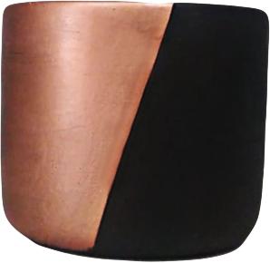 Conj. 3 Cachepots preto e cobre em cimento 10889 Mart