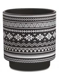 Conjunto 2 Cachepots pretos em cerâmica 10550 Mart