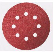 Disco de Lixa 127mm Velcro 8 Furos Grão 80