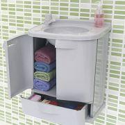 Gabinete P/ Banheiro Astra Gab Fit Pvc 2 Portas + Gavetão