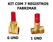 Kit 6 Registros De Gaveta 25mm 3/4 Fabrimar + 1 Pressão
