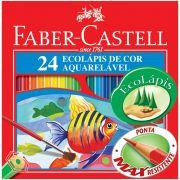 Lápis De Cor Ecolápis 24 Cores Aquarelável - Faber-castell