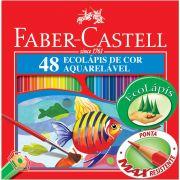 Lápis De Cor Faber Castell 48 Cores Aquarelável