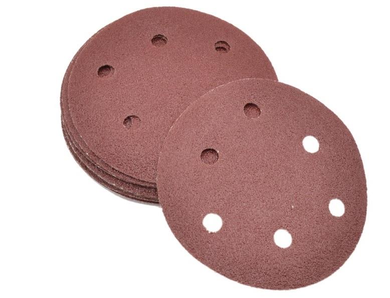 Disco de Lixa 150mm Velcro 6 Furos Grão 80