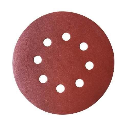 Disco de Lixa 127mm Velcro 8 Furos Grão 50