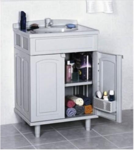 Gabinete Lavatório Para Banheiro Com Cuba Gabmax Astra + Gabfit