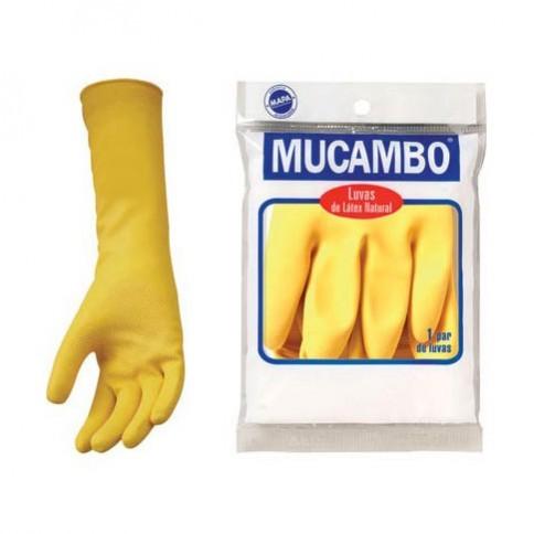 Luva Latex Amarelo Mucambo Pro 230