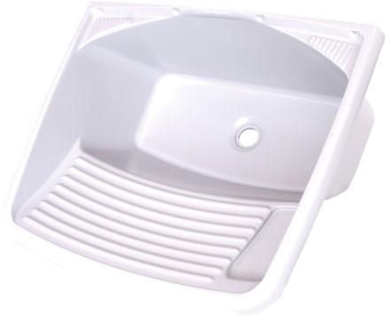 Tanque Para Lavar Roupa 37 / 24 Litros Em Pvc Branco
