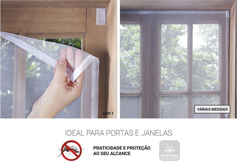 Tela Mosquiteiro para Janela com Velcro 1,05 x 1,55m