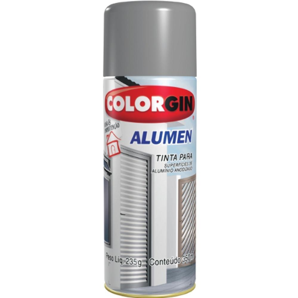 Tinta Spray Alumen P/ Aluminio Colorgin 350ml Bronze Claro