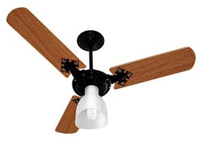 Ventilador de Teto Venti-Delta Preto/Mogno 3 Velocidades 110V