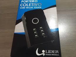 Porteiro Eletrônico Coletivo 8 Pontos c/ Teclas Touch LR 5508 - Lider