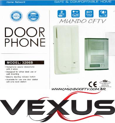 Porteiro Eletrônicos Residencial So 110v Vexus C/nf