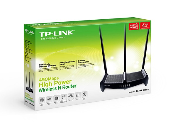 ROTEADOR 450Mbps High Power Wireless N Router TL-WR941HP