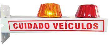 """Sinalizador de Garagem """"Cuidado Veículos"""" COM BIP SONORO - Entrada e Saída de Veículos - DNI 6973"""