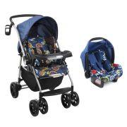Carrinho de Bebê AT6 K com Cadeira Touring SE Bike Azul - Burigotto
