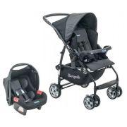 Carrinho de Bebê com Bebê Conforto Rio K Geo Preto - Burigotto