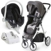 Carrinho De Bebê Maly + Bebê Conforto Cocoon Dzieco + Base Preto