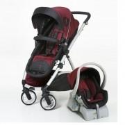 Carrinho De Bebê Maly + Bebê Conforto Cocoon Dzieco + Base Preto/Vinho