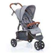 Carrinho De Bebê Moving Light Woven Gray (Cinza com Couro) - ABC Design