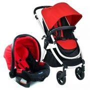 Carrinho Soul com Bebê conforto Vermelho - Burigotto