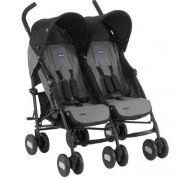 Carrinho de Bebê Passeio Gêmeos Chicco Echo Twin 2 Posições até 15kg
