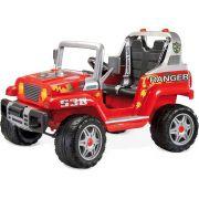 Jipe Elétrico Infantil Ranger 538 Vermelho 12v 2 Lugares - Peg-Pérego