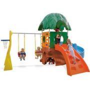 Playground Casinha Casa na Árvore (com Balanço) - Xalingo