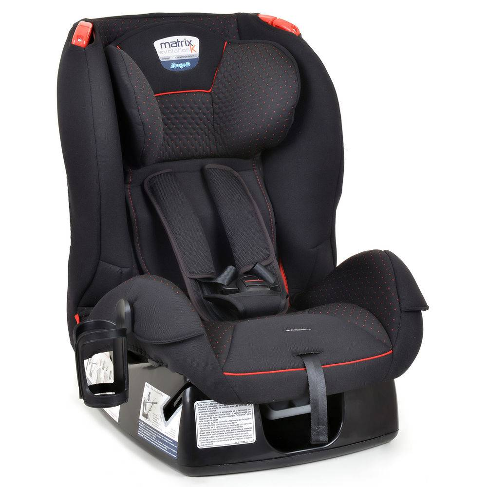 Cadeira para Auto Matrix Evolution K - Dot Vermelho Até 25Kg - Burigotto