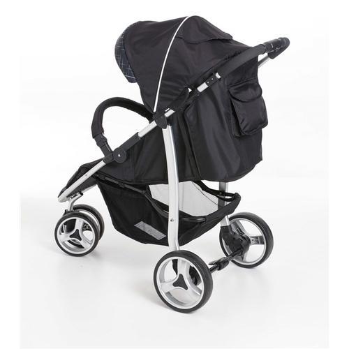 Carrinho 3 Rodas + Bebê Conforto Apollo Preto + Base  - Galzerano