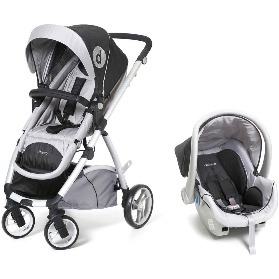Carrinho de Passeio Maly com Bebê Conforto Preto - Dzieco