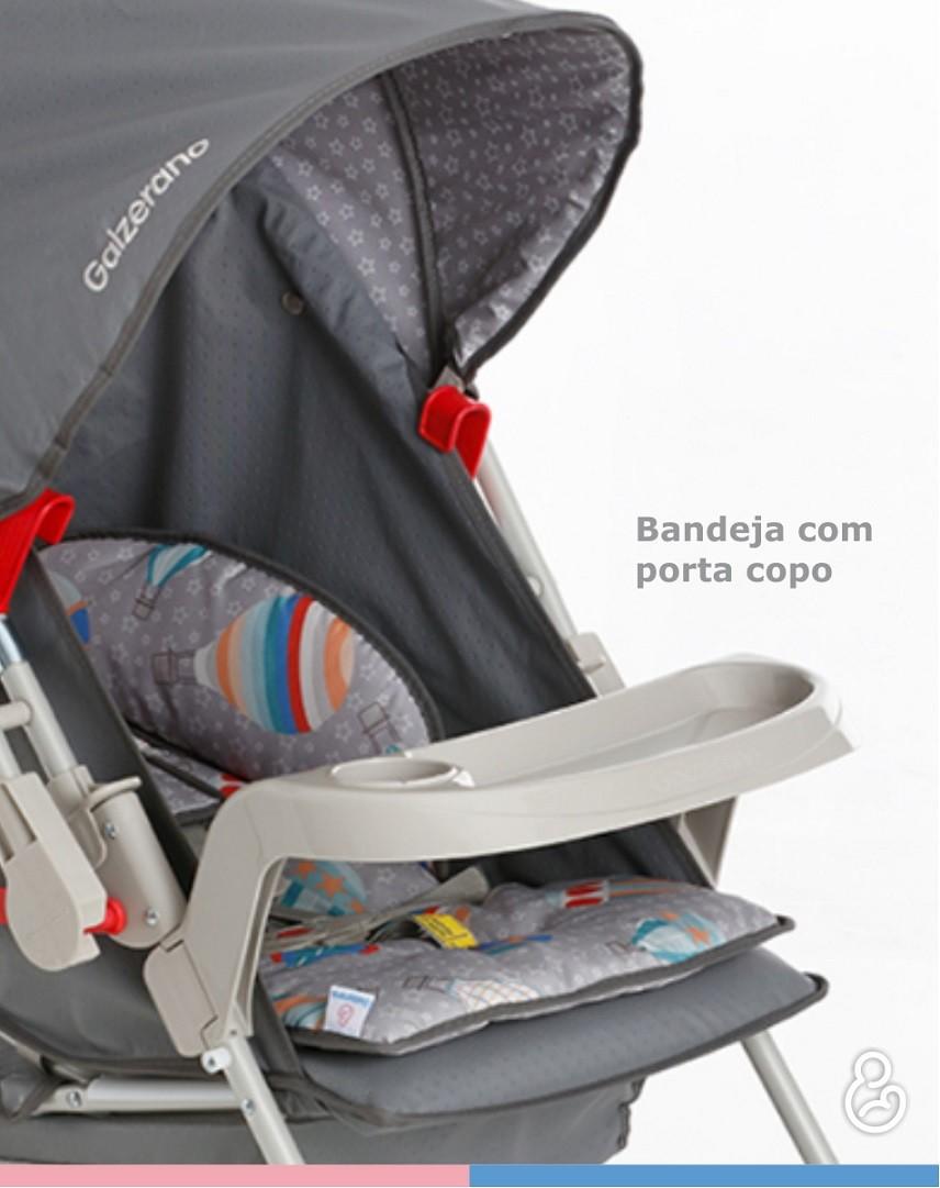 Carrinho Berço-Passeio com Bebê Conforto Milano Reversível II Azul Real - Galzerano