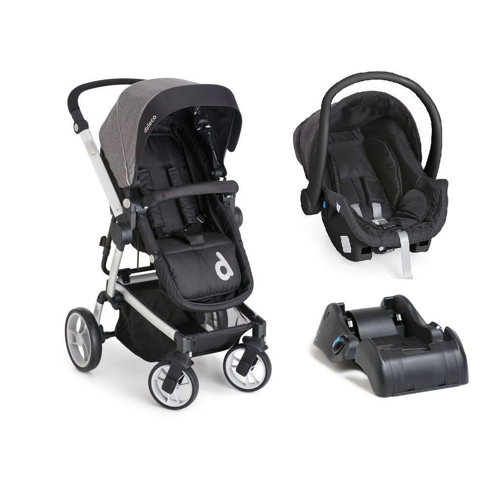 acf349e60 Carrinho com Bebê Conforto Zolly Preto + Base (Preto) - Dzieco ...