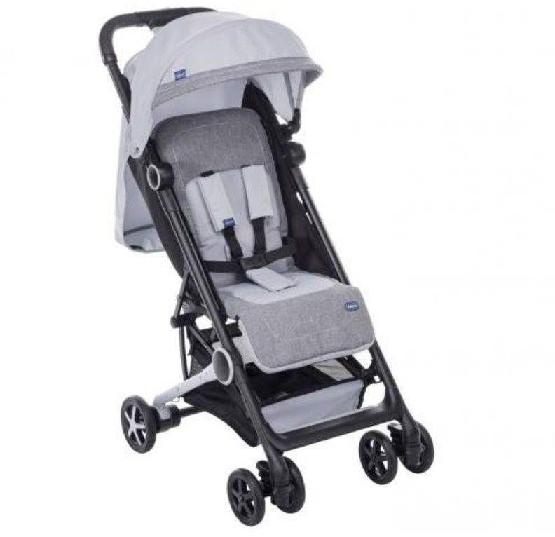 Carrinho com Bebê Miinimo (Minimo) Silver/Perl - Chicco