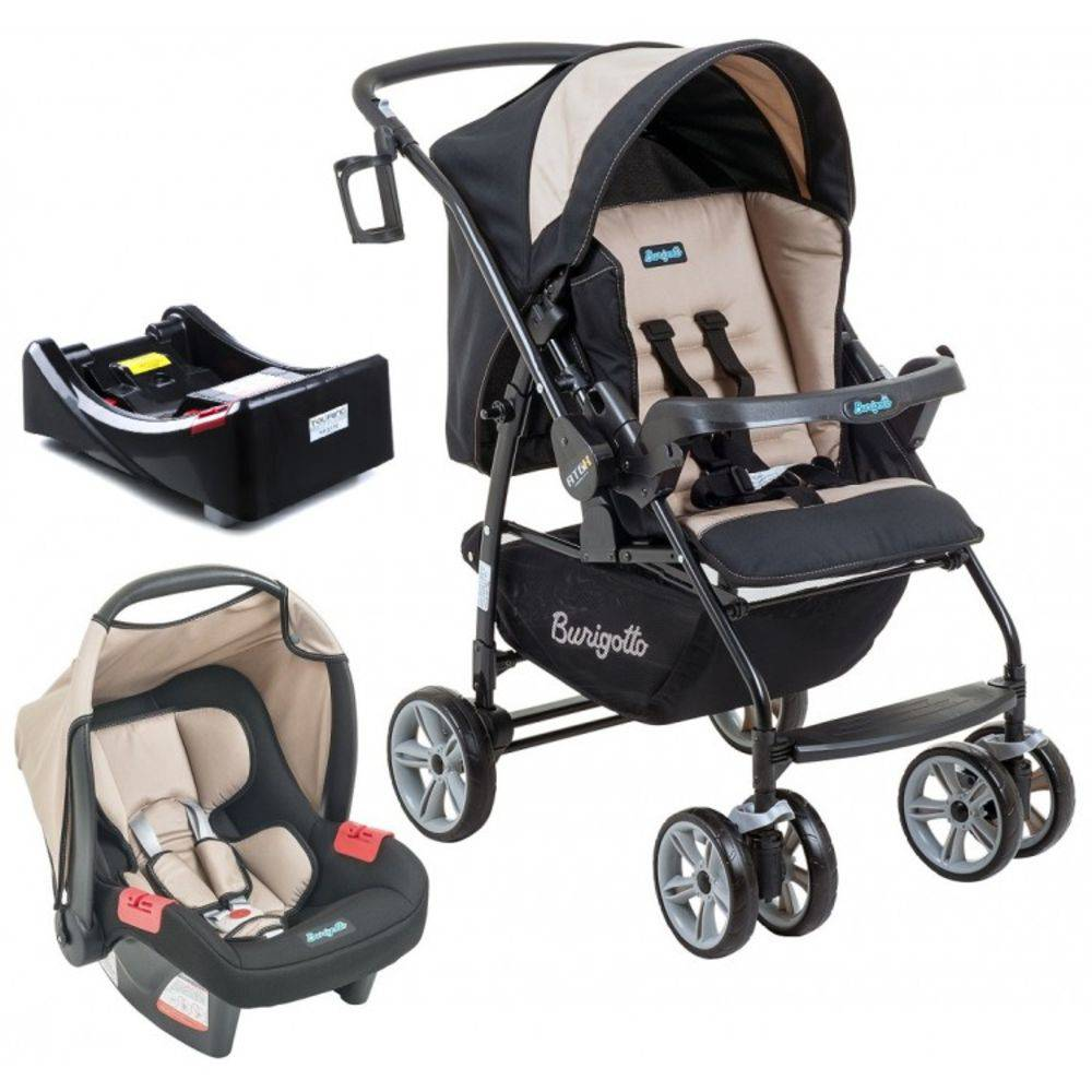 Carrinho de Bebê AT6 K com Cadeira Touring SE Bege + Base - Burigotto
