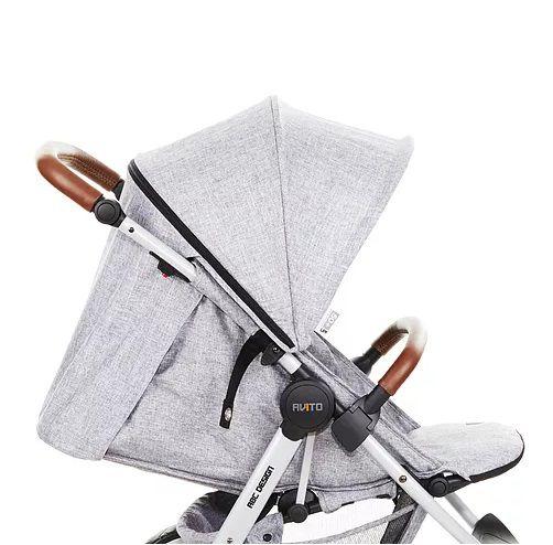 Carrinho De Bebê Avito Style Street (Cinza Escuro) com Bebê Conforto Risus - Abc Design