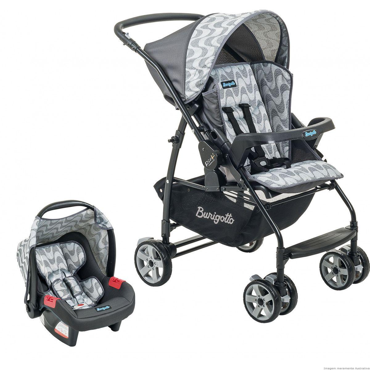 Carrinho de Bebê com Bebê Conforto Rio K Copacabana - Burigotto