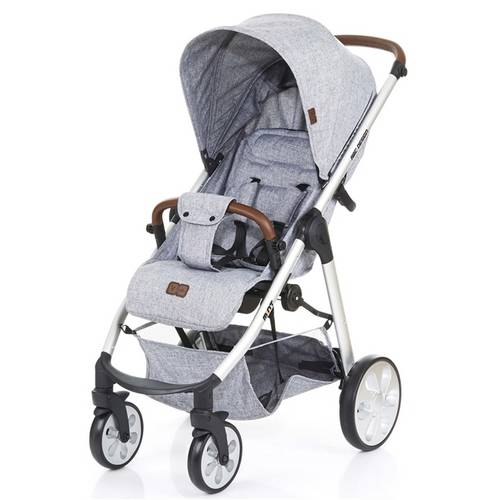Carrinho De Bebê Mint Graphite Gray (Cinza Claro) - Abc Design