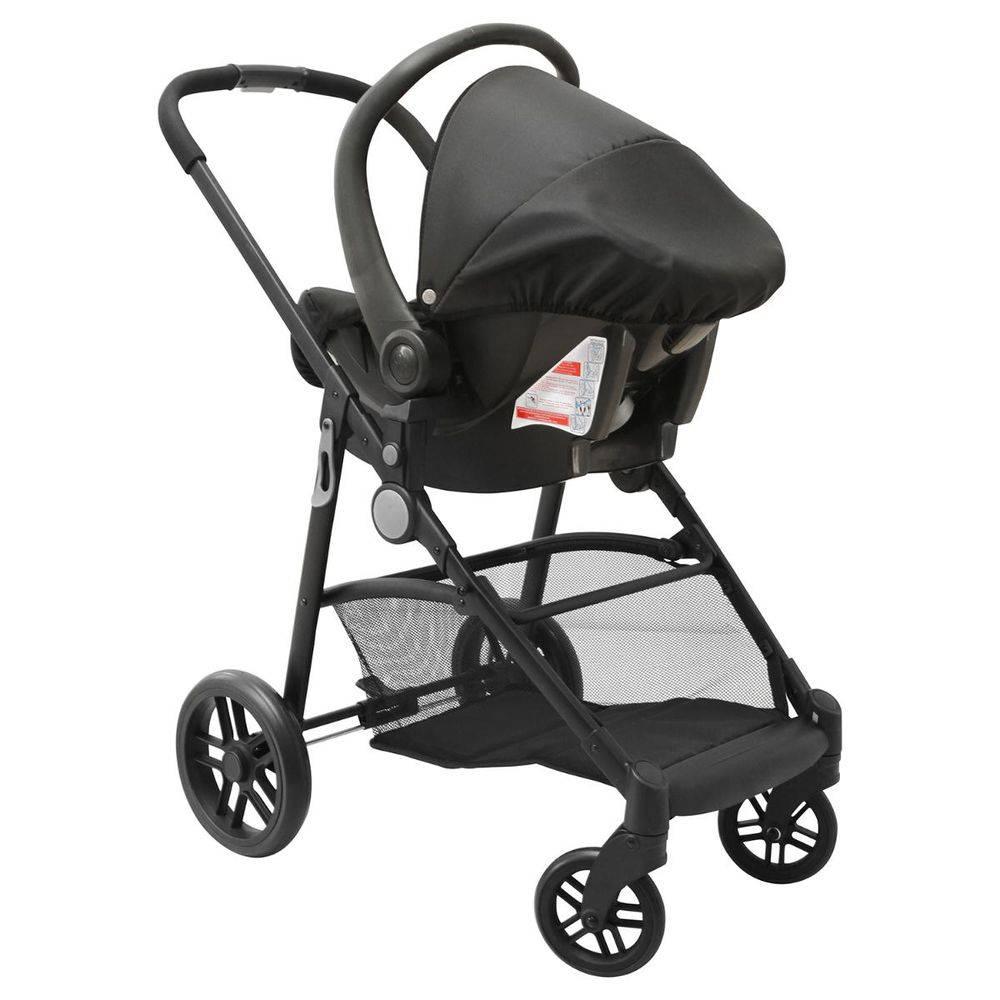 Carrinho de Bebê Moisés Gero Azul/Preto com Bebê Conforto - Galzerano