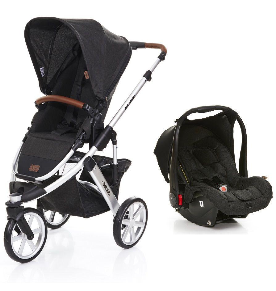 ae3ed9886 Carrinho de Bebê Salsa 3 Rodas Piano (Preto) com Bebê Conforto - ABC Design  ...