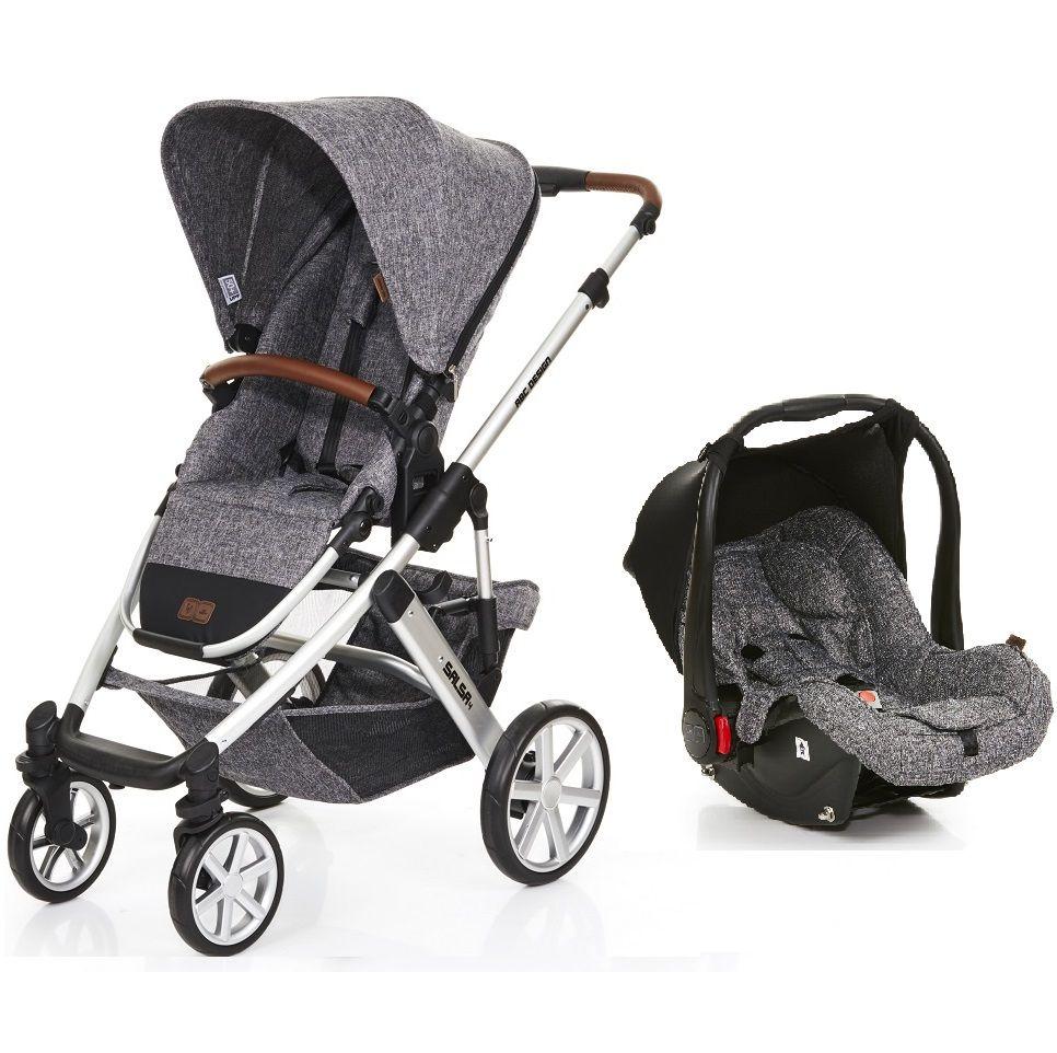 0c15f072c Carrinho de Bebê Salsa 3 Rodas Race (Cinza Escuro) com Bebê Conforto - ABC  ...
