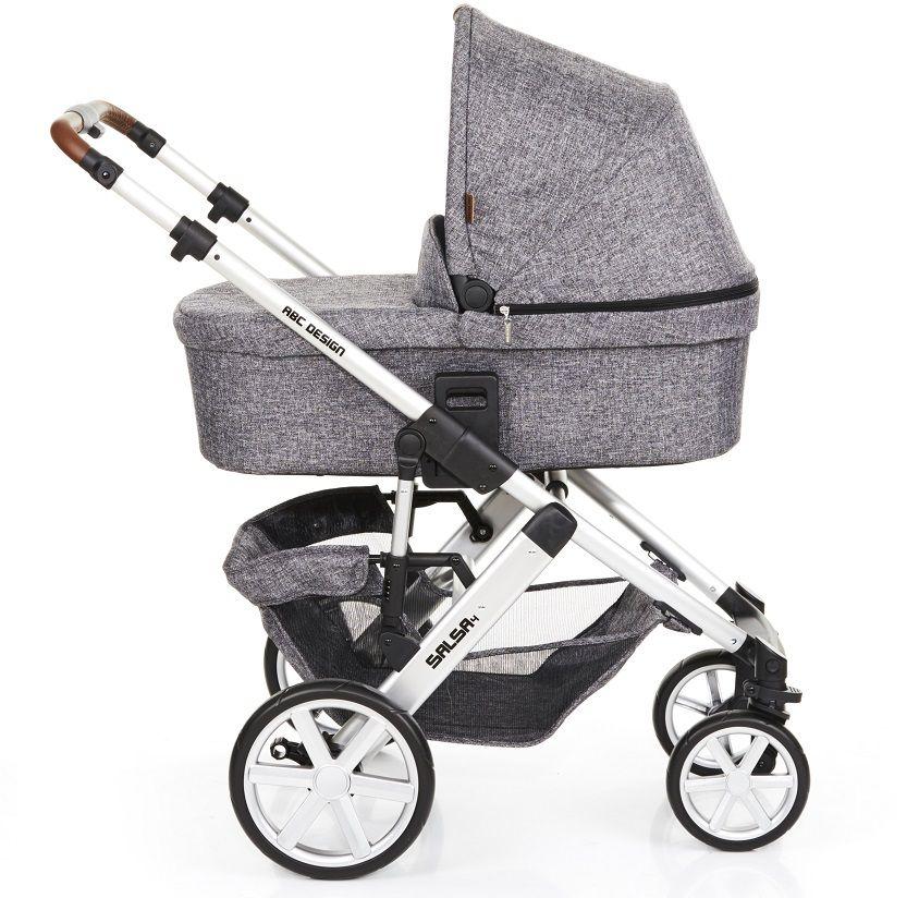 Carrinho de Bebê Salsa 4 Rodas Race (Cinza Escuro) - ABC Design