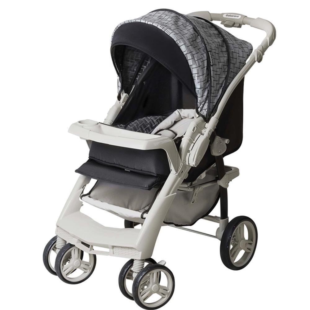 Carrinho De Bebê TS Optimus Preto/Cinza com Bebê Conforto - Galzerano