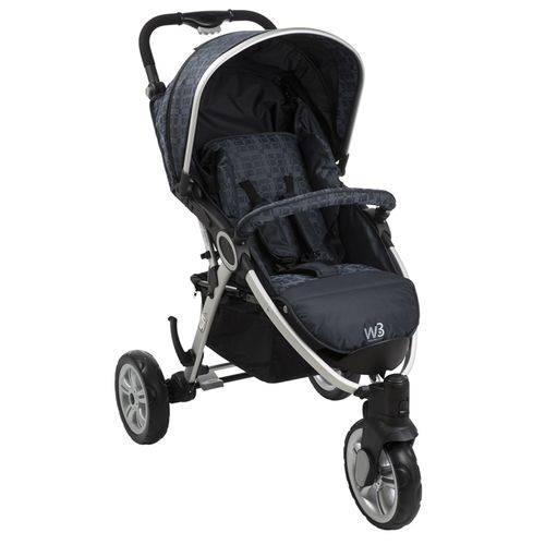Carrinho de Bebe W3 Netuno com Bebe Conforto Touring Evolution - Burigotto