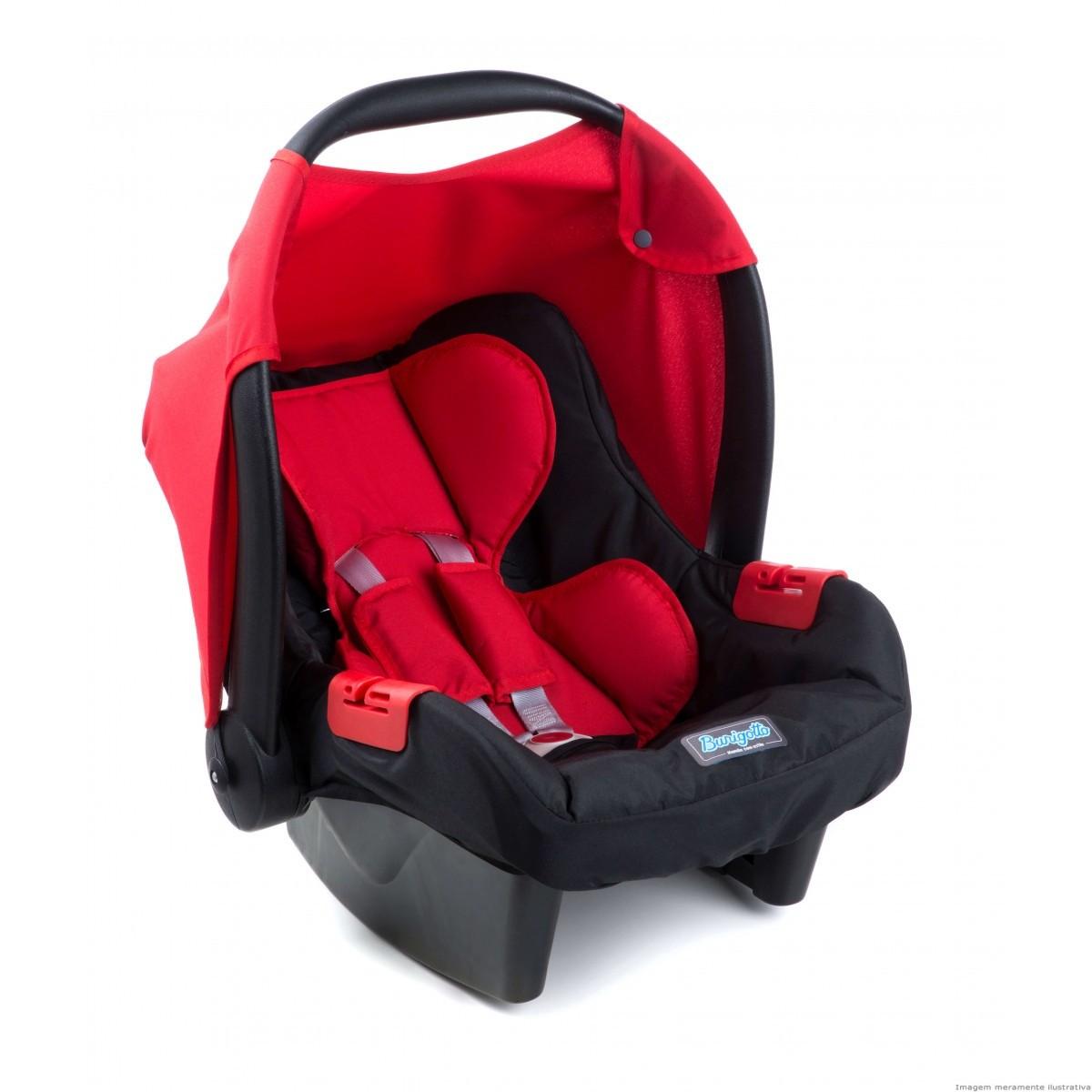 Carrinho Ecco Red (Vermelho) com Bebê Conforto Touring Evolution Se II - Burigotto