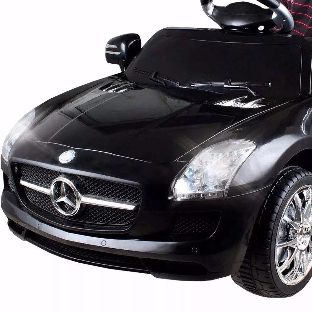 Carrinho Elétrico Infantil Mercedes Preto 6 Volts II - Xalingo