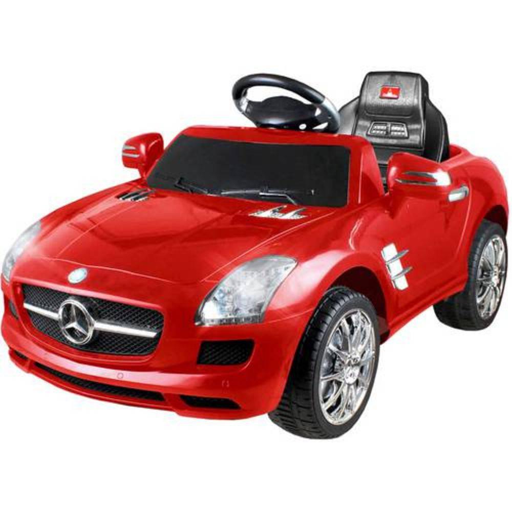 Carrinho Elétrico Infantil Mercedes Vermelho 6 Volts - Xalingo