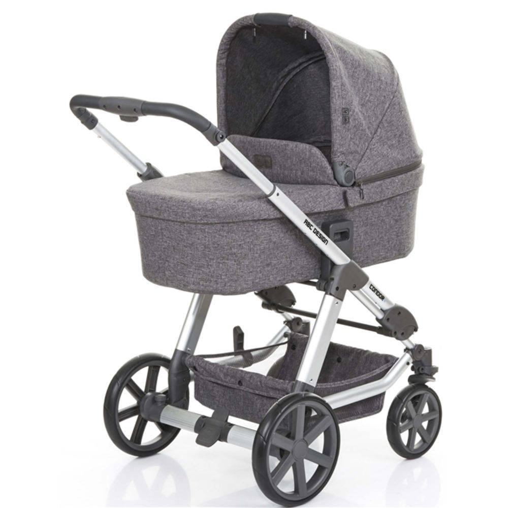 Carrinho Moisés Condor 4 com Bebê Conforto Risus Track - ABC Design